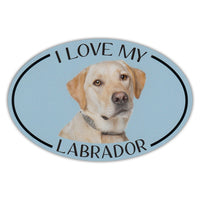 Oval Dog Magnet - I Love My Yellow Lab
