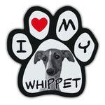 Picture Paw Magnet - I Love My Whippet