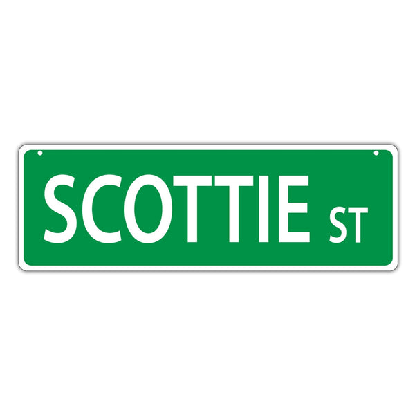 Novelty Street Sign - Scottie Street (Scottish Terrier)