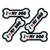 "Magnet Variety Pack - I Love My Dog, 3"" x 1.25"" Each"