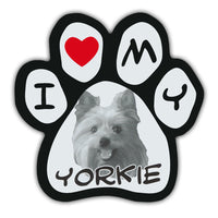 Picture Paw Magnet - I Love My Yorkie