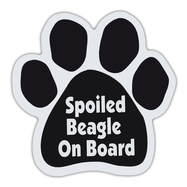 Dog Paw Magnet - Spoiled Beagle On Board