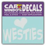 "Window Decal - Love Westies (4.5"" Wide)"