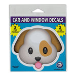 "Window Decals (2-Pack) - Dog Face Emoji (4.25"" x 3.75"")"