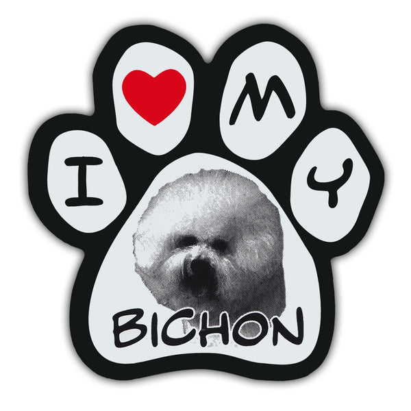 Picture Paw Magnet - I Love My Bichon