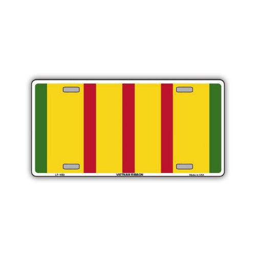Aluminum License Plate Cover - Vietnam Bar Ribbon