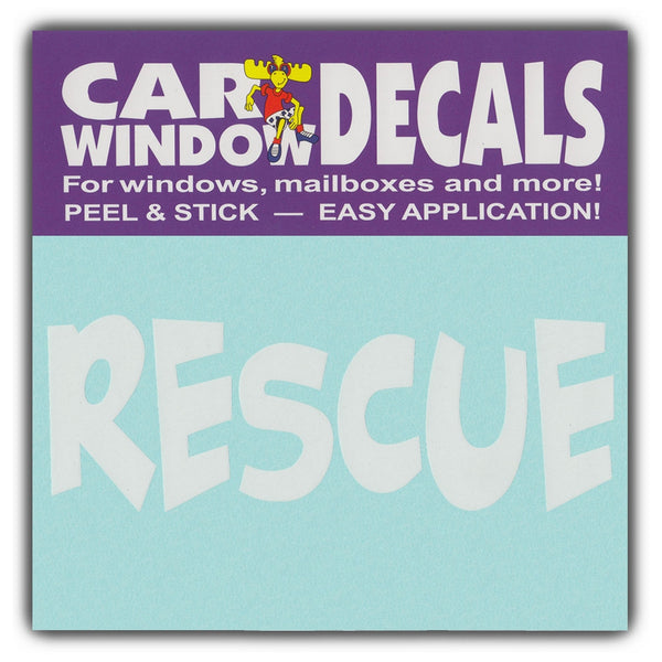 "Window Decal - Rescue (4.5"" Wide)"