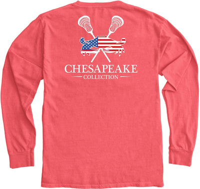 All American LAX Long Sleeve - Chesapeake Collection