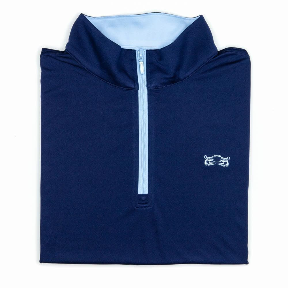 Classic Crab Performance 1/4 Zip - Chesapeake Collection