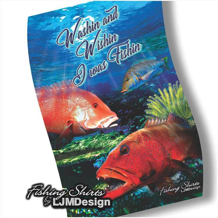 Reef Fish Tea Towel - Red Emperor, Coral Trout, Sweetlip