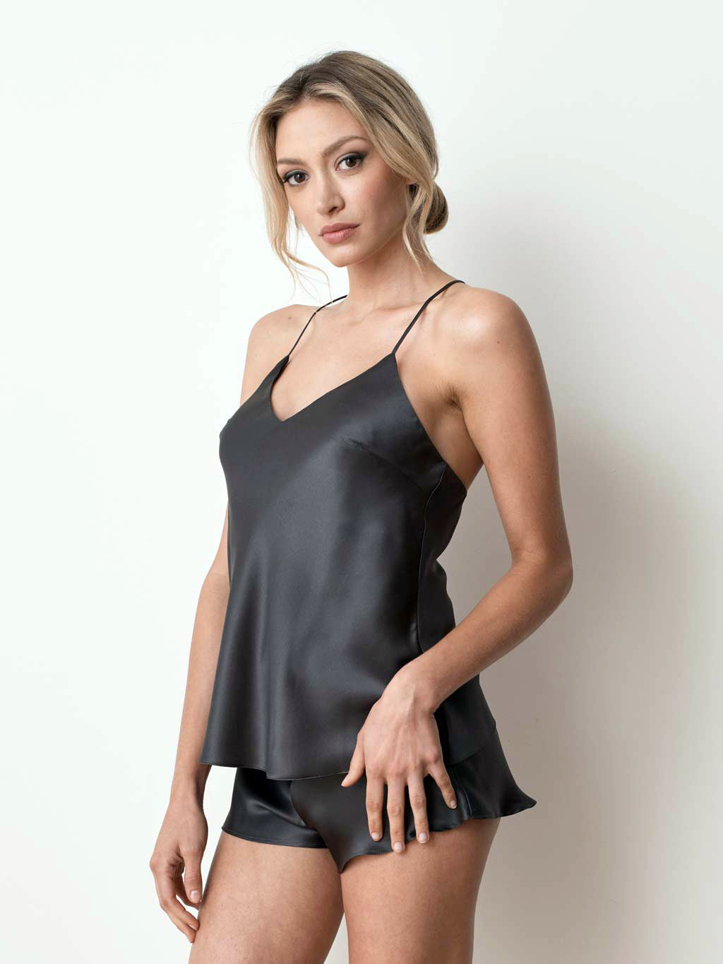 Ms. Kensington silk charcoal camisole