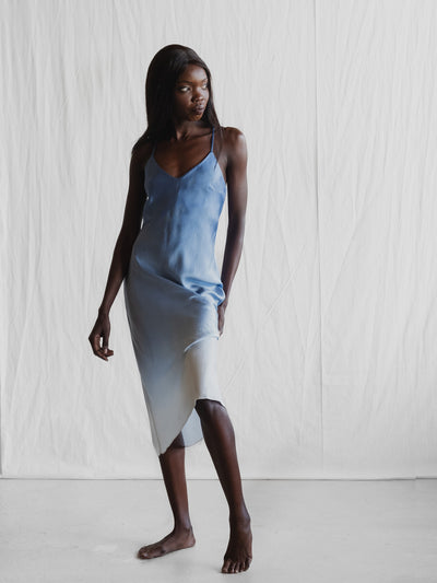 Dip in the Ocean - Midi Silk Slip