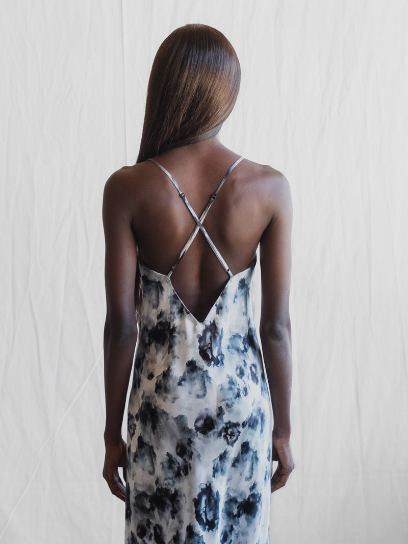 Midi Silk Slip - London Print