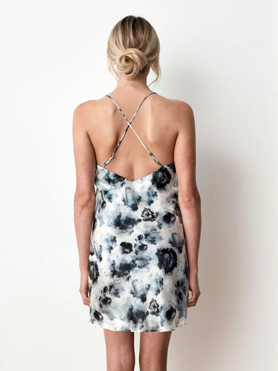 Silk Satin Slip - London Print back