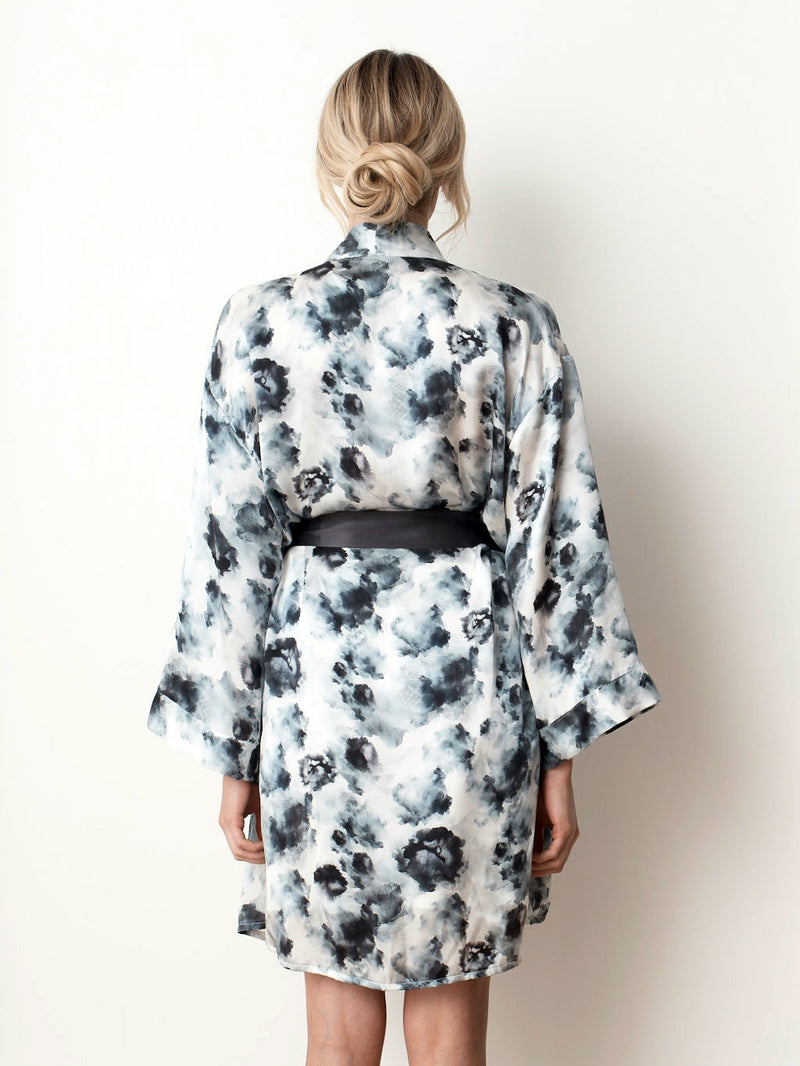Silk Robe - London Print