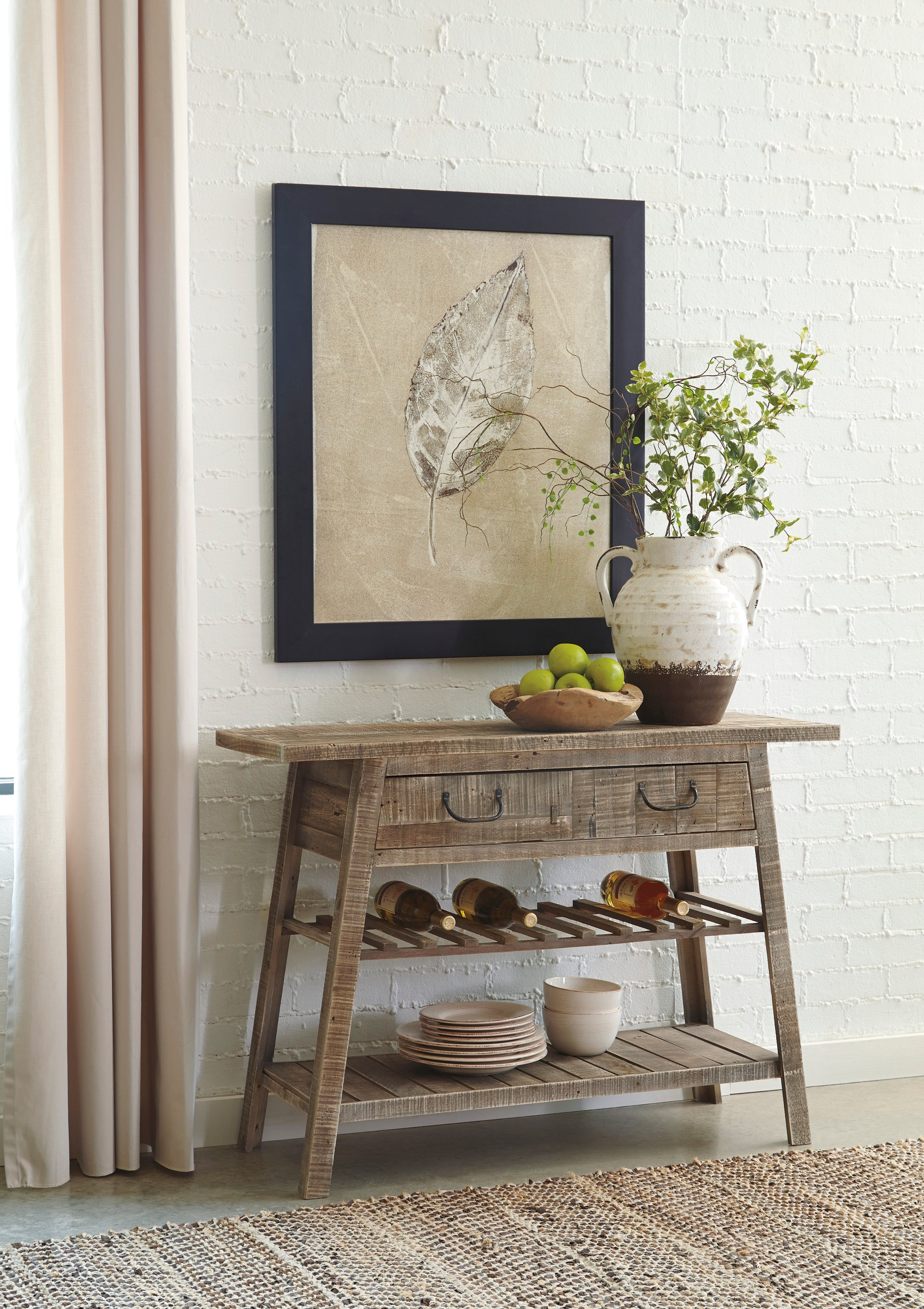 Table console Ashley Camp Ridge Light Brown