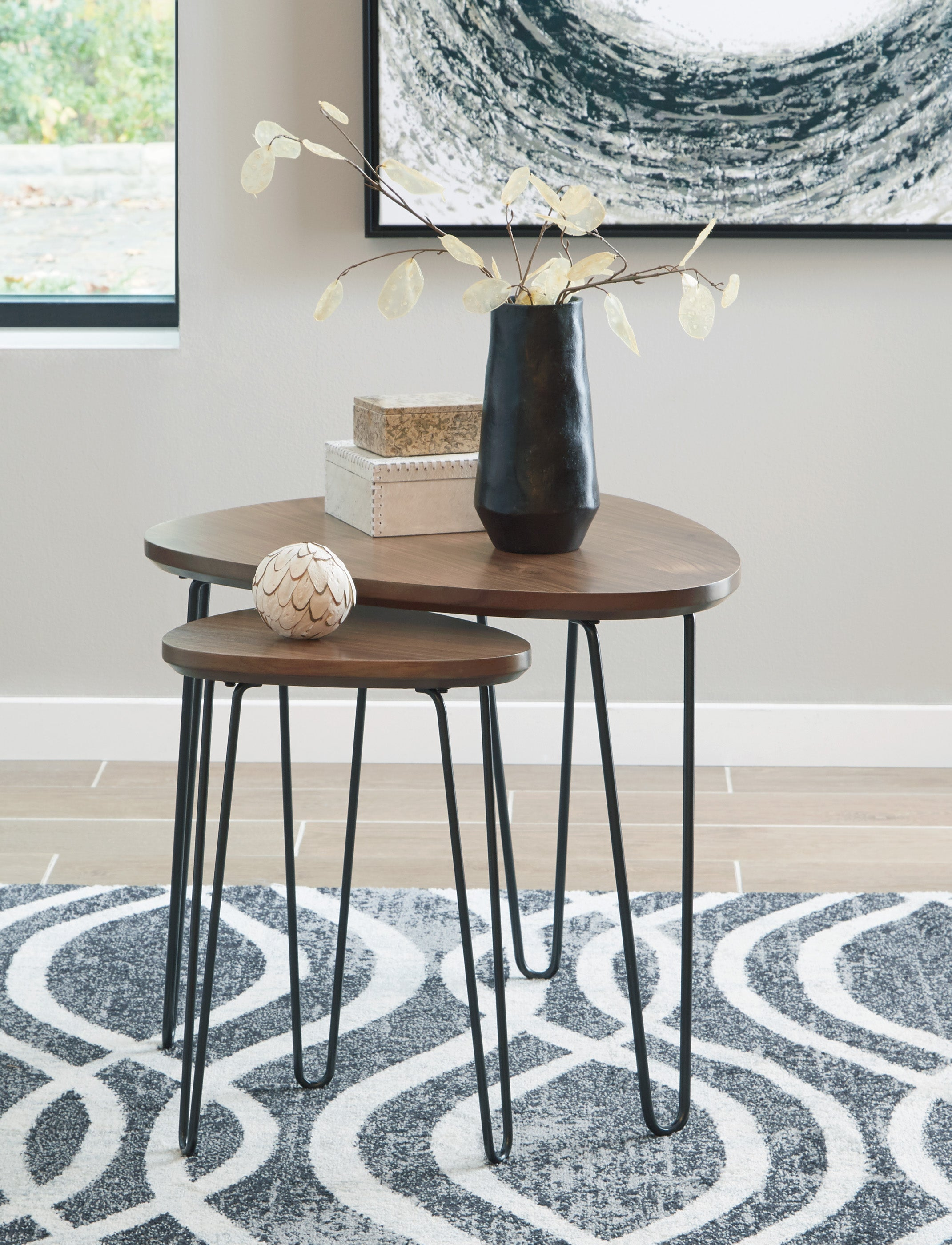 Table de centre Ashley Brown/Black