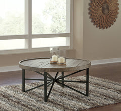 Table de centre Ashley Cazentine Grayish Brown/Black