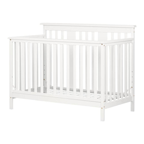 Lit de bébé moderne 4 hauteurs avec barrière de transition Cotton Candy South Shore
