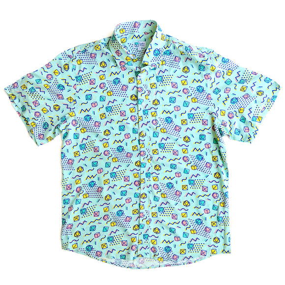 90s Dice Unisex Button Up