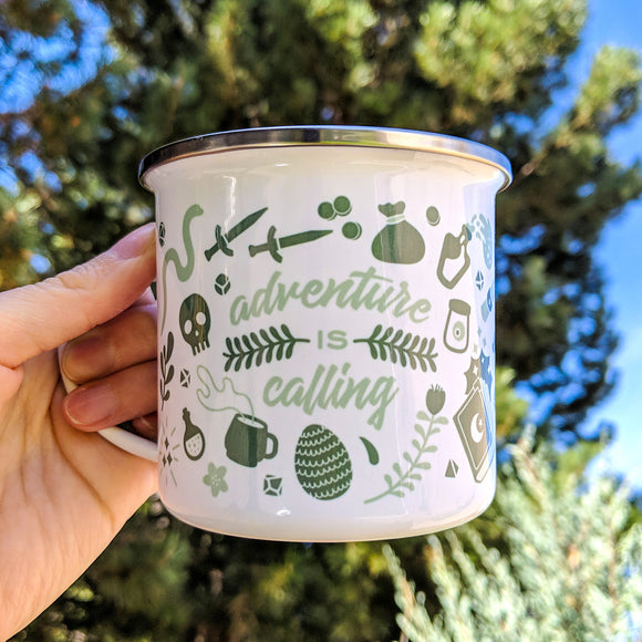 Adventure is Calling Enamel Mug - Paola's Pixels