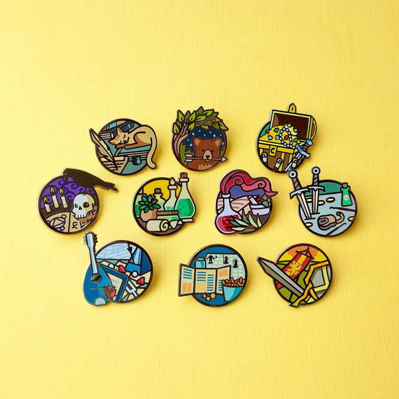The whole Adventurer Day Jobs pin collection - Paola's Pixels