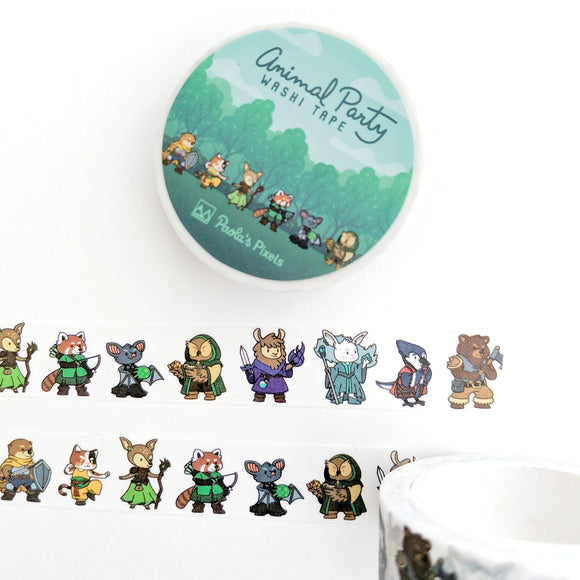 Animal Party Washi Tape - Paola's Pixels