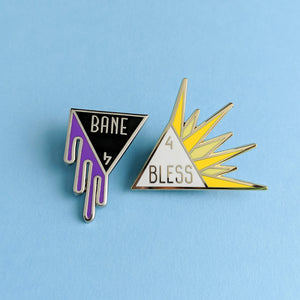 Bane and Bless Enamel Pin Set