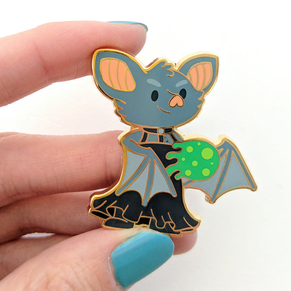 Seconds sale! Bat Sorcerer Enamel Pin - Paola's Pixels