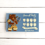 Seconds sale! Bear Barbarian Enamel Pin - Paola's Pixels