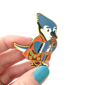 Seconds sale! Blue Jay Bard Enamel Pin - Paola's Pixels