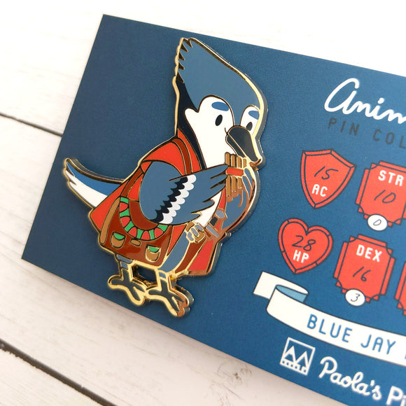 Blue Jay Bard Enamel Pin