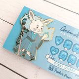 Seconds sale! Bunny Wizard Enamel Pin - Paola's Pixels