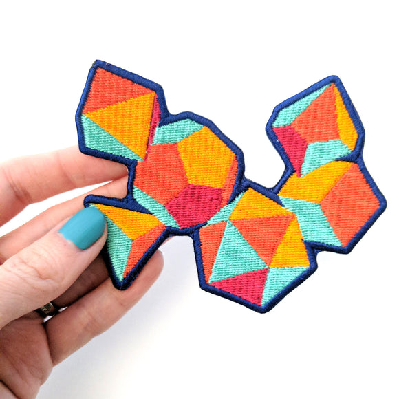 Seconds sale! Colorful Dice Patch - Paola's Pixels