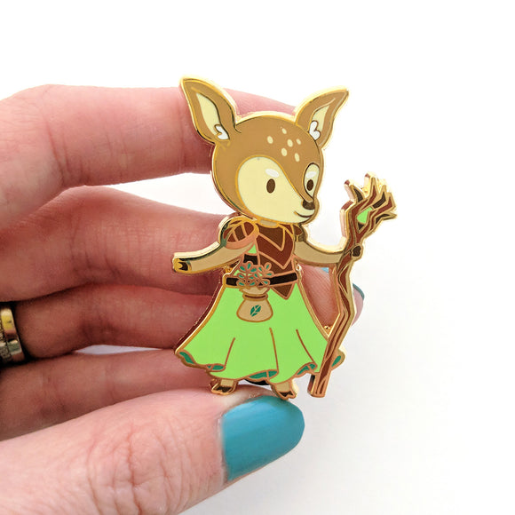 Seconds sale! Deer Druid Enamel Pin - Paola's Pixels
