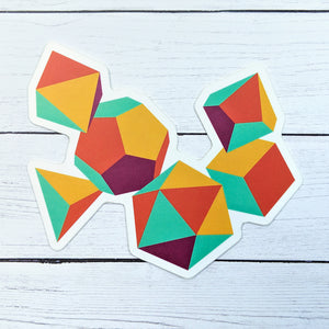 Colorful Dice Sticker - Paola's Pixels