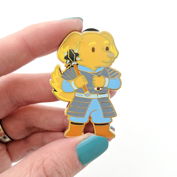 Seconds sale! Dog Cleric Enamel Pin - Paola's Pixels