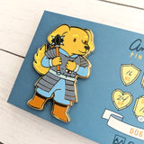 Dog Cleric Enamel Pin - Paola's Pixels