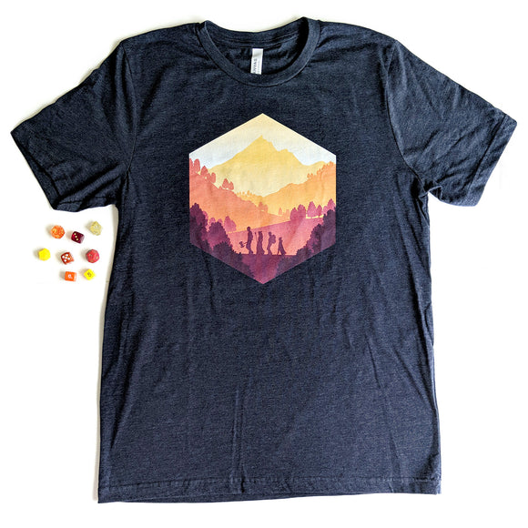 Fall Adventure d20 Shirt - Paola's Pixels