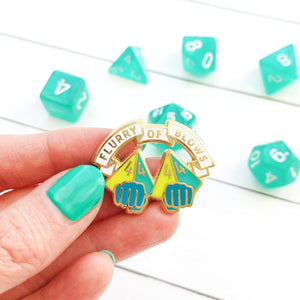 Flurry of Blows Enamel Pin - Paola's Pixels