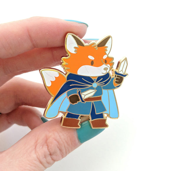 Seconds sale! Fox Rogue Enamel Pin - Paola's Pixels