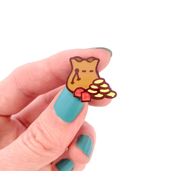 Seconds sale! Bag of Gold Enamel Pin - Paola's Pixels
