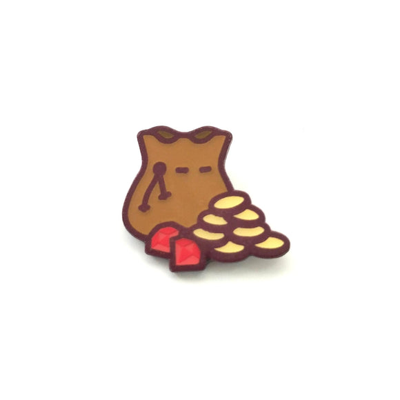 Bag of Gold Enamel Pin - Paola's Pixels