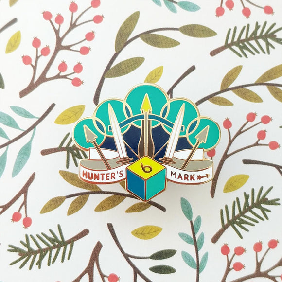 Hunter's Mark Enamel Pin-Paola's Pixels