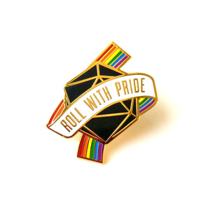 Roll with Pride Pin - Paola's Pixels