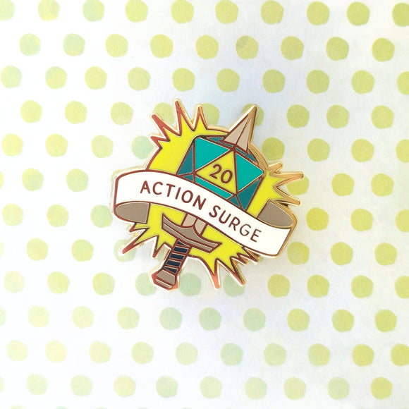 Action Surge Pin-Paola's Pixels
