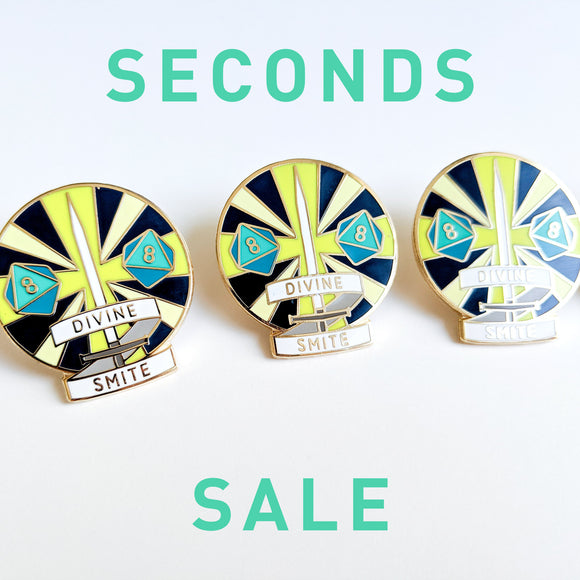 Seconds Sale! Dungeons and Dragons Divine Smite Enamel Pin, Paladin DnD Enamel Pin, gifts for geeks, dungeon master gift