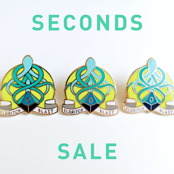 Seconds Sale! Eldritch Blast Dungeons and Dragons Pin, Warlock Dnd Enamel Pin, d20 Pin, Tabletop RPG pin, Dungeon Master Gift, D&D pin