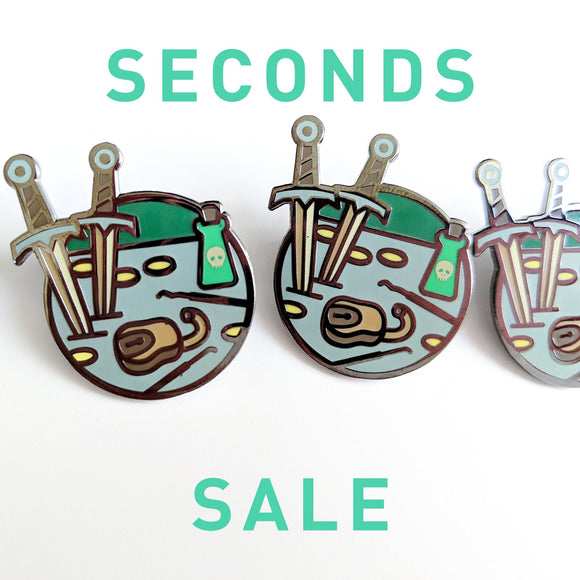 Seconds Sale! Dungeons and Dragons Thief Pin, DnD Rogue enamel Pin, Gifts for Gamers, gifts for geeks, D&D gift, stocking stuffer