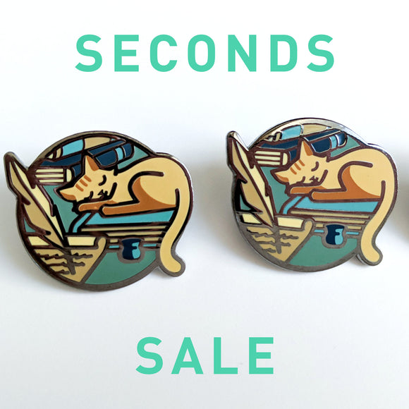 Seconds Sale! Dungeons and Dragons Wizard Pin, DnD Cat enamel Pin, Critical Role Enamel pin, Gifts for Gamers, gifts for geeks, D&D gift